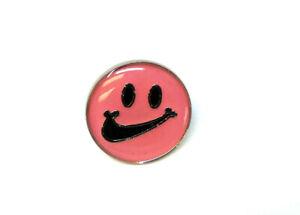 METALLIC ENAMEL SWOOSH SMILEY FACE LOGO CHECK MARK LAPEL PIN BUTTON RETRO KICKS