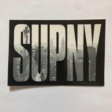 Rare Supreme SUPNY New York Statue Of Liberty Black Sticker Authentic