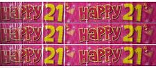 Fun House HAPPY 21st BIRTHDAY 21 Today Pink Girls Banner Party Decoration 9ft