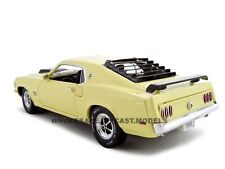 1969 FORD MUSTANG BOSS 429 YELLOW 1:24 DIECAST MODEL CAR UNIQUE REPLICAS 18645