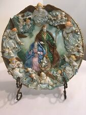 "Franklin Mint Heirloom ""The Nativity"" Limited Edition Plate, 10"" dimensional 3d"