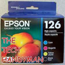 4-PACK EPSON GENUINE 126 BLACK & COLOR INK (RETAIL BOX) for STYLUS NX330 NX430