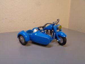 TEKNO DENMARK 762 VINTAGE HARLEY DAVIDSON MOTORCYCLE WITH SIDECAR VERY RARE VG
