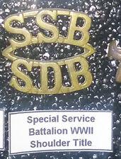 SSB Special Service Battalion WWII Shoulder Title ® - UDF