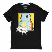 Pokemon Carapuce Popart T-Shirt Mâle X-Large Noir (TS465433POK-XL)