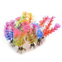 Aquarium Artificial Plastic Grass Fish Tank Ornament Water Plant Decoration C-3