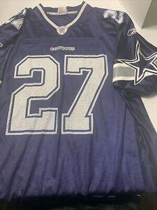 Dallas Cowboys Eddie George #27 Reebok On Field Mesh Jersey Size L