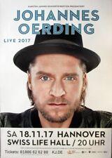 Oerding, Johannes - 2017-concert affiche-Concert-Tourposter-Hanovre