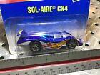 1991 Hotwheels #254 Blue Card 30yrs Old Sol-Aire CX4 Rare N Blisterpack