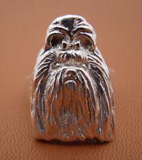 Small Sterling Silver Shih Tzu Heas Study Ring
