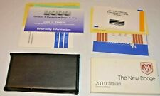 2000 DODGE CARAVAN OWNERS MANUAL GUIDE BOOK SET WITH CASE OEM