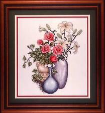 Cross My Heart EVENING HARVEST Cross Stitch Chart/Leaflet ~ flower bouquets
