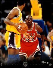 Michael Jordan Unsigned 11x14 Photo Chicago Bulls Stare Down Focus VS Bryant/500