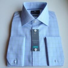 Cotton Checked Long Double Cuff Formal Shirts for Men