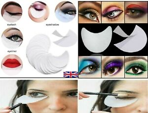 Eye Shadow Shields Disposal Patches Stickers Pads Eyes Eyeliner Shield Guide UK