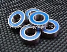 [50 PCS] MR105-2RS (5x10x4 mm) Rubber Metal Ball Bearing Bearings Blue MR105RS