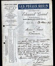 """SAINT-MAUR-des-FOSSES (94) USINE de POELES / GODIN """"Edouard GRAND"""" en 1925"""