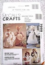 "7055 SEWING PATTERN~UNCUT~""SEW FREE"" 11"" DOLL&CLOTHES:DOTTIE+VICTORIA+BUNNY+++"