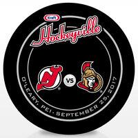 2017 Kraft Hockeyville Canada Official Game Hockey Puck Ottawa vs Devils