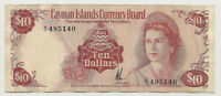 1971 CAYMAN ISLANDS 10 DOLLARS  ~ NICE XF ~ RARE A/1 FIRST PREFIX! (140)