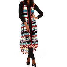 Mehrfarbige lange Damen-Pullover mit mittlerer Strickart