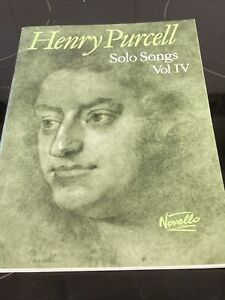 Henry Purcell: Solo Songs Volume IV Voice Vocals Choral SHEET MUSIC BOOK VGC