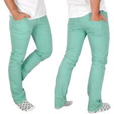 Adidas Men's Skinny Jeans Slim Fit Pants Denim Turquoise Light Green Mint Xs S M