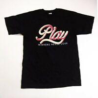 Play cloths Men 100% authenitc S/S t-shirt size Medium black logo