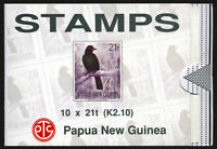 Papua New Guinea Booklet Containing 10 - 21t Scare 1993 Bird of Paradise Stamps