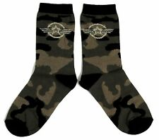 Dames Kaki Camouflage Us Air Force Star Chaussettes Uk 4-8 Eur 37-42 Usa 6-10
