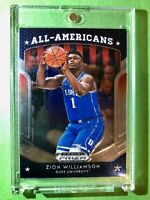 Zion Williamson 2019-20 ROOKIE PANINI PRIZM DRAFT PICKS ALL AMERICANS RC #100