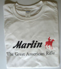 T-shirt Marlin Rifles firearms size large 100% cotton white top quality