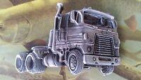 Truck Drivers SEMI TRUCKERS TRUCKS Pewter Finish Metal/Enamel BELT BUCKLE