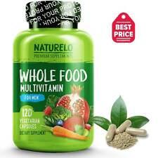 NATURELO Whole Food Multivitamin for Men - 120 Capsules
