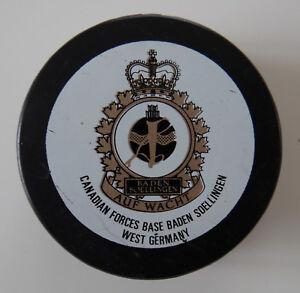 1 vintage hockey puck Canadian Forces Base Baden Soellingen West Germany 1980/90