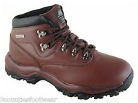 MENS HIKING BOOTS - GENTS WALKING BOOTS - ALL SIZES - WATERPROOF LEATHER BROWN