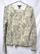 GOODCLOTHES Top Shirt Blouse Large 10/12  Bust 44 beige Multi career wear