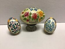 Vintage Hand Painted (emptied) Pysanky Easter Eggs
