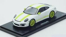 Porsche 911 991 R ligera 2016 blanco acid verde White Spark resin rar 1:18