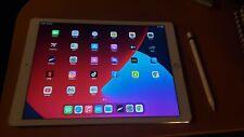 Apple iPad Pro 1st Gen. 128GB, Wi-Fi, 12.9 in - Silver (CA) with apple pencil