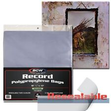 100x BCW 33 1/3 RPM RESEALABLE Outer Sleeves Archival Poly Bags Record Albums
