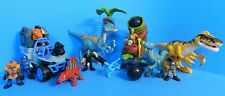 FISHER PRICE IMAGINEXT DINOSAUR JURASSIC WORLD LOT FIGURES BOULDERS JEEP