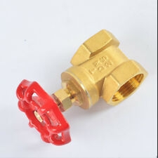 Thicken 1/2''~2'' BSP Brass FIP X FIP Clique Valve with Red Wheel Handle Lasting