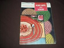 Vtg. Crochet Pattern Booklet - Placemats and Doilies - 1955 Coats & Clark's