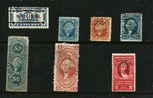 U.S. Scott #R66c $1 Conveyance + 6 Other revenue stamps