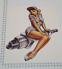 XXL PIN UP SPARK Adesivi Sticker grandi v8 speedshop DECAL Old School Girl Big 6