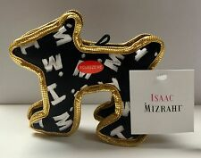 Pet lovers - Isaac Mizrahi Painterly logo Designer Dog toy with squeaker NWT