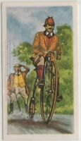 'Penny Farthing'  Bicycle 1865 French Crank Driven  Vintage Trade Ad Card