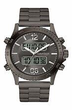 Caravelle New York Men's 45B136 Dual-Time Chronograph Dark Grey Watch