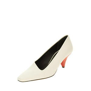 RRP €360 NEOUS Leather Court Shoes EU 38 UK 5 US 8 Cone Heel Made in Italy